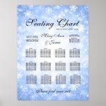 Wedding Seating Chart Blue Winter Wonderland