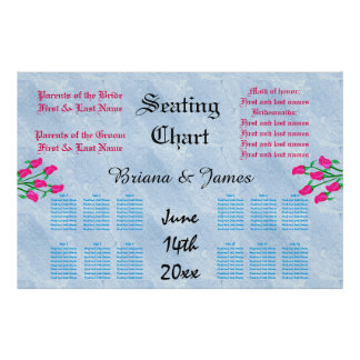 Wedding Seating Chart Bride Groom Bridal Guests Poster
