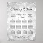 Wedding Seating Chart Silver Winter Wonderland