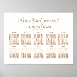 Wedding Seating Plan Rose Gold Lettered Sign