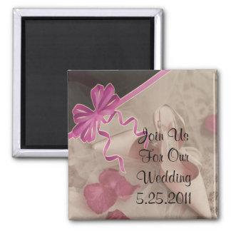 Wedding Shoes Rose Petals Set Refrigerator Magnets