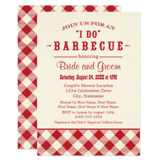 Wedding Shower Invitation | Casual BBQ in Red
