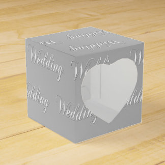 Wedding (silver) favour box