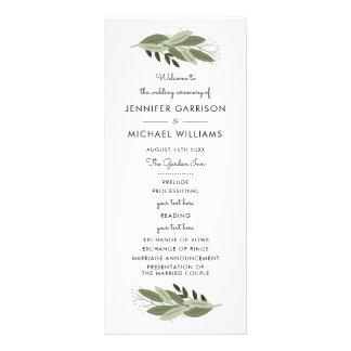 Wedding Sprigs Program Rack Card