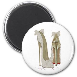 Wedding Stiletto High Heel Art Magnet
