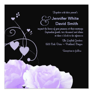 Wedding Swirls & Roses Wedding Invitation