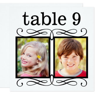 Wedding Table Number Cards | Bride + Groom Photos
