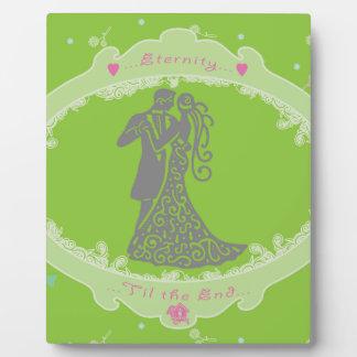 Wedding Tattered Design Photo Plaque