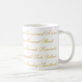 Wedding Terminology Mug