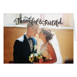 Wedding Thank You Note Cards Photocard Graitude