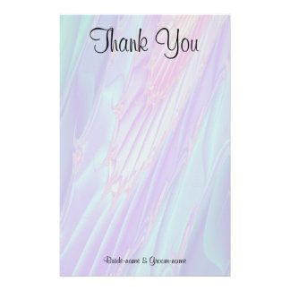 Wedding Thank You. Seashell Style Pattern. Stationery