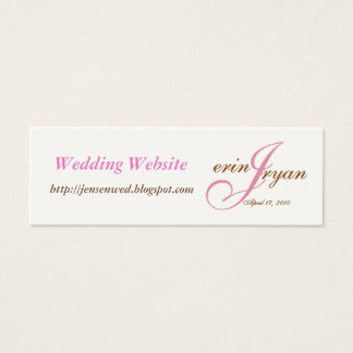 Wedding Website Mini Business Card