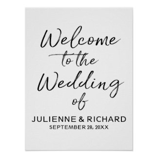 Wedding Welcome Stylish Lettered Sign