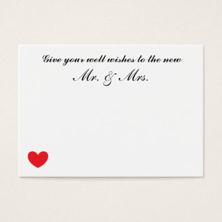 """Wedding """"Well Wishes"""" Cards"""