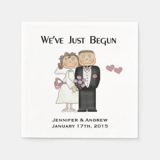 Wedding We've Just Begun Personalize Paper Napkins