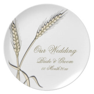 """Wedding wheat dinnerware """"country collection"""" plate"""