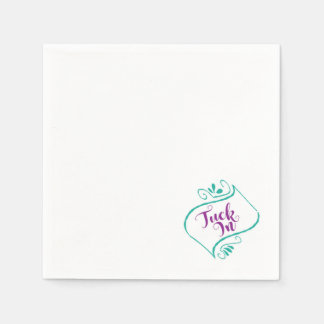 Wedding - White Paper Napkins - Tuck In