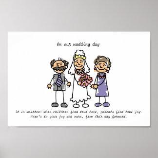 Wedding Wish for Bride's Parents Poster
