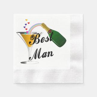 Weddings Best Man Disposable Napkin