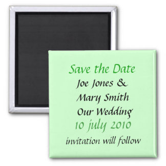 WEDDINGS SQUARE MAGNET