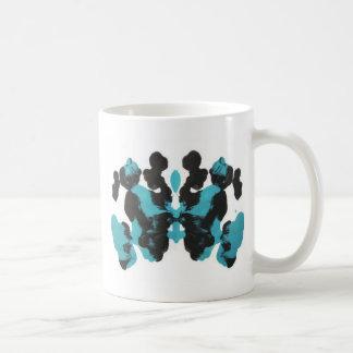 Wednesday Blue Inkblot Design Coffee Mug