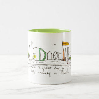 Wednesday's Two-Tone Coffee Mug