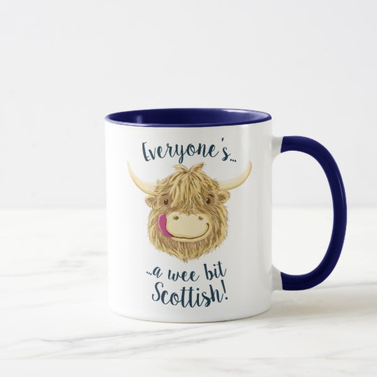 Wee Hamish Highland Cow, A Wee Bit Scottish! Mug
