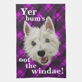 Wee Westie's Words of Wisdom! Tea Towel