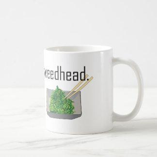 weedhead. (seaweed) coffee mug