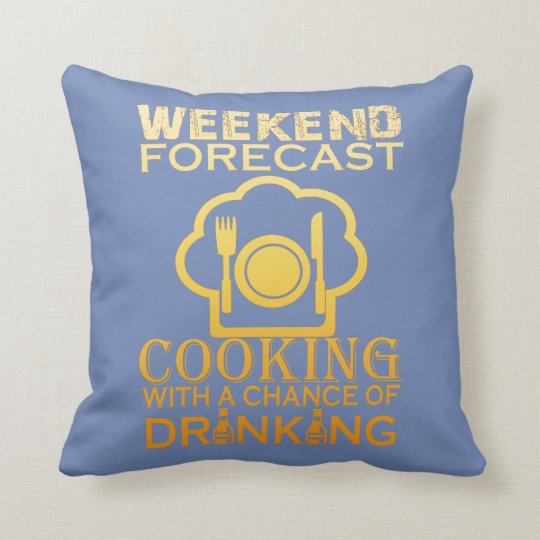 WEEKEND FORECAST COOKING THROW PILLOW
