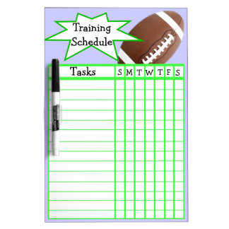 Weekly football training schedule Dry-Erase whiteboard