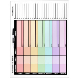 "Weekly Meal Planning 22"" x 16"" Dry-Erase Board"