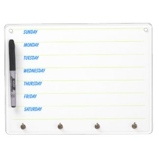 Weekly Planner Dry Erase Board With Key Ring Holder