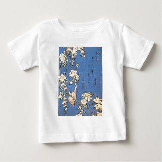 Weeping Cherry and Bullfinch by Hokusai Baby T-Shirt