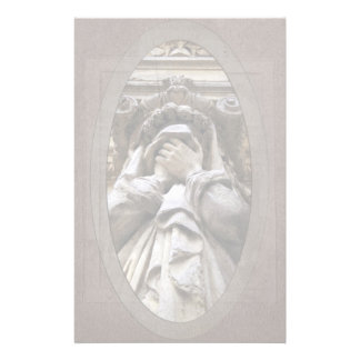 Weeping Funerary Sculpture Funeral Stationery
