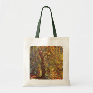 Weeping Willow by Claude Monet, Vintage Fine Art Tote Bag