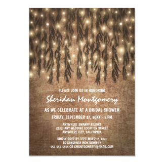 Weeping Willow Tree Bridal Shower Invitations