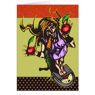 Weight Loss and Diet Greeting Card