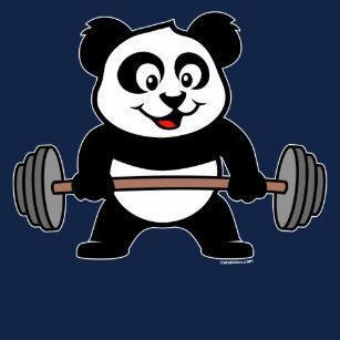 Cute Weightlifting Panda T Shirts Shirt Designs Zazzleconz