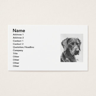 Weimaraner Art Business Card