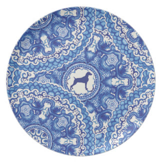 Weimaraner Blu China Design MELAMINE PLATE