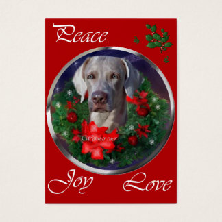Weimaraner Christmas Gifts Business Card