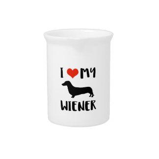 Weimaraner design pitcher