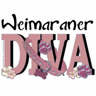 Weimaraner DIVA Standing Photo Sculpture