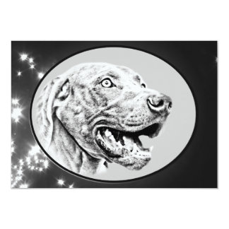 Weimaraner dog card