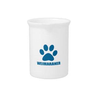 WEIMARANER DOG DESIGNS PITCHER