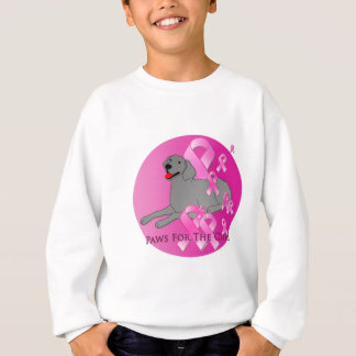 Weimaraner Dog Pink Ribbon Sweatshirt