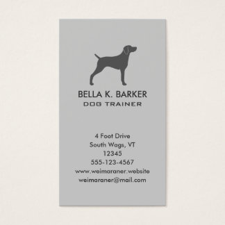 Weimaraner Dog Silhouette Vertical Business Card
