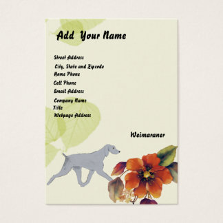 Weimaraner ~ Green Leaves Design Business Card