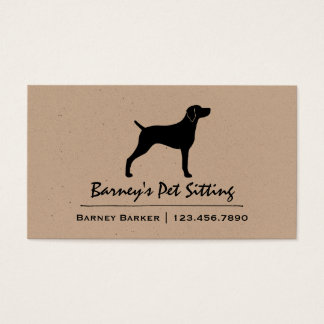 Weimaraner Silhouette Business Card
